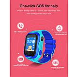 Детские Смарт часы с GPS A32W Синий (Smart Watch) Умные часы, фото 4