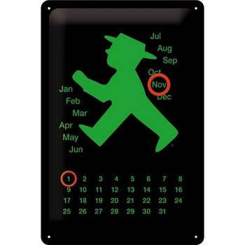 Настенный металлический календарь Nostalgic-Art Ampelmann grün (20258)