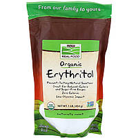 "Органический эритритол NOW Foods, Real Food ""Organic Erythritol"" (454 г)"