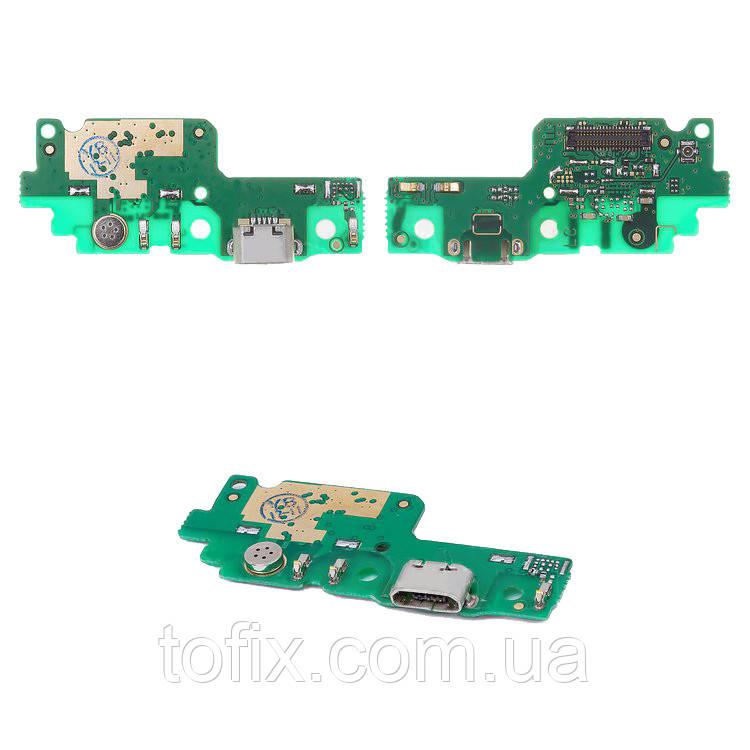 Шлейф для Huawei Y6 II, коннектора зарядки, микрофона, плата зарядки, оригинал