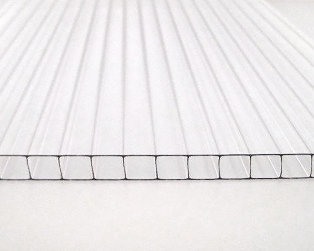 Сотовый поликарбонат ТМ Oscar 4мм прозрачный 2100х6000мм