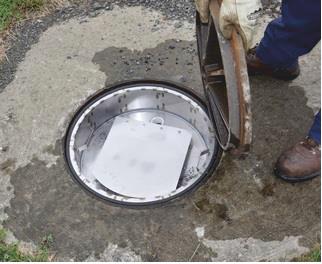 Воздушный фильтр для очистки воздуха от вредных газов с сепаратора жира Wager USA №3000 под крышку люка