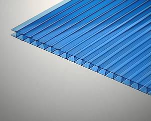 Сотовый поликарбонат TM Oscar 4мм синий 2100х6000мм
