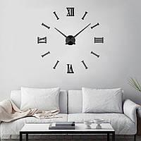 Настенные часы с 3D эффектом Римские/полосы 2018 BLACK