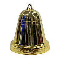 Пластиковое украшение Колокол, 25см, золото глянцевый (890506)