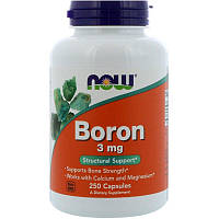 "Бор NOW Foods ""Boron"" 3 мг (250 капсул)"