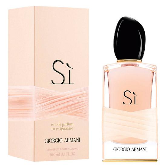 Женская парфюмированная вода Giorgio Armani Si Rose Signature 100 ml 2016 г