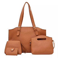Жіноча руда сумка набір 4в1, фото 1