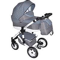 Детская коляска трансформер 2 в 1 Picasso Польша серо-голубой 65874