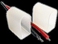 Комплект для Светодиодного неона (заглушка глухая, с отверствием+провод 10см*2шт)