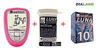 Глюкометр Веллион Луна Дуо (Wellion  LUNA Duo) + 25 полосок (глюкоза) + 10 полосок (холестерин)