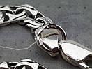 Серебряная цепочка Бисмарк (плоский, 24 грамма), фото 3