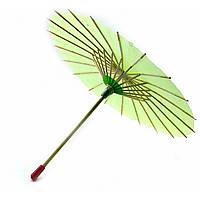 Китайский зонт бумажный зеленый