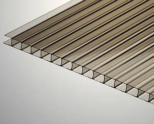 Сотовый поликарбонат ТМ Oscar 6мм бронза 2100х6000мм