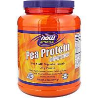 """Гороховый протеин NOW Foods, Sports """"Pea Protein"""" вкус ванильных ирисок (907 г)"""