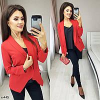 Стильный женский пиджак Раные цвета рр 42-52