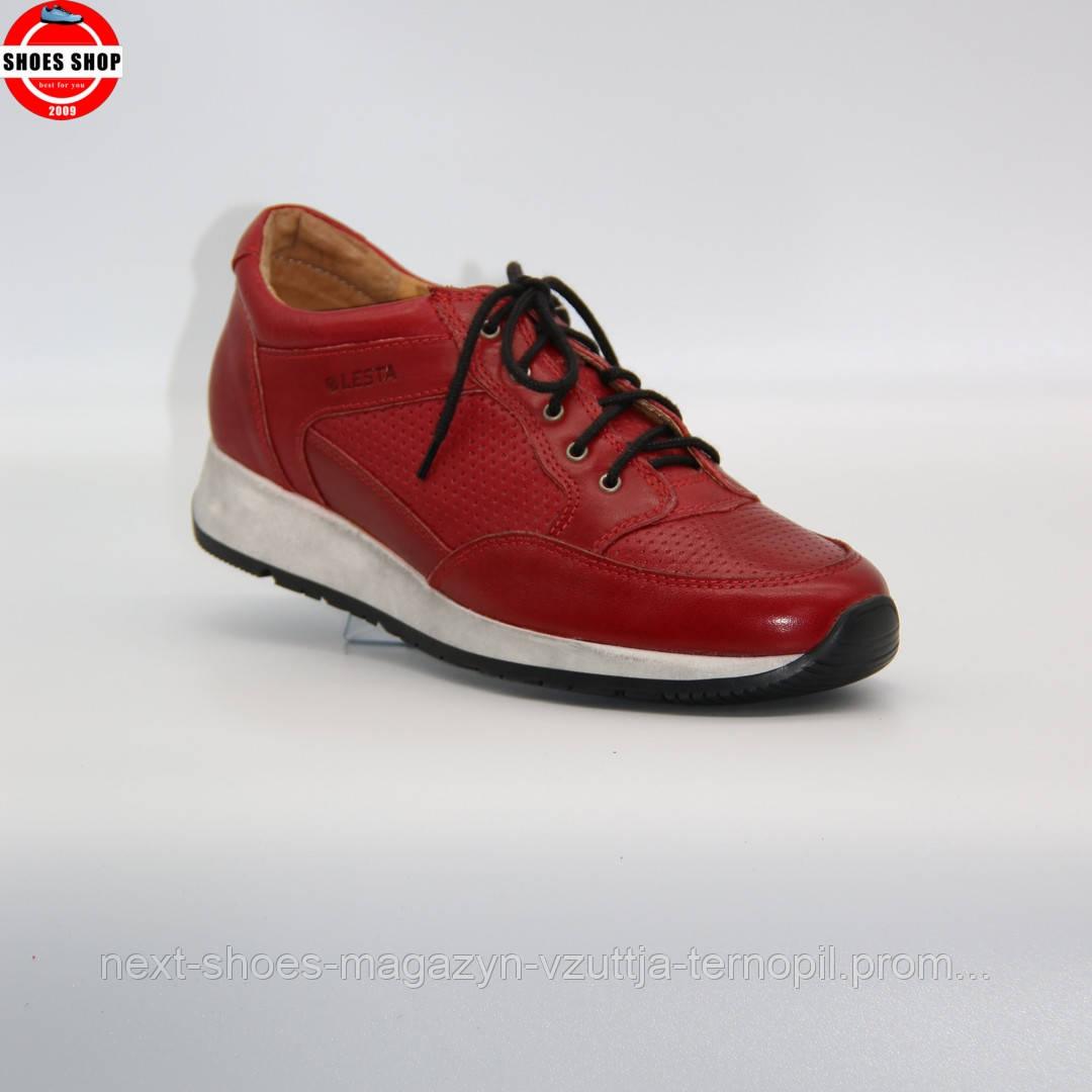 Жіночі кросівки Lesta (Польща) червоного кольору. Дуже красиві та комфортні. Стиль: Розі Хантінгтон-Уайтлі