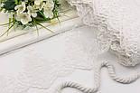 """Кружево с хлопковой вышивкой """"Вензельные арфы"""", цвет белый, ширина 15 см, фото 4"""