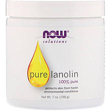 "Чистый ланолин NOW Foods, Solutions ""Pure Lanolin"" уход за кожей (198 г)"