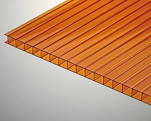 Сотовый поликарбонат ТМ Oscar 6мм янтарный 2100х6000мм