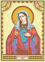 Схема для вышивки иконы бисером на натуральном художественном холсте Святая Лидия