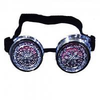 Очки Стимпанк с ажурными решетками (серебро)