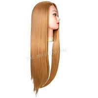Голова для причесок с искусственными термо волосами светло-русые 70см ET-27