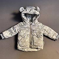 Куртка светло-серая на девочку р.68 (3-6 мес), 80 (1 год), 86 (1,5 года)
