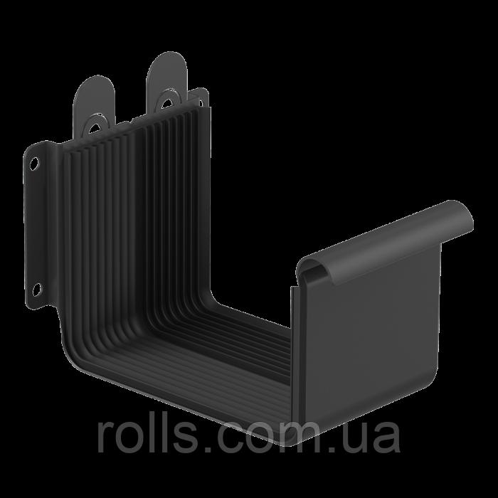 Соединитель желоба с кронштейном 125/80, цвет Черный RAL9005 Galeco Stal 2 Муфта желоба компенсатор расширения
