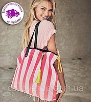 Стильная яркая сумка в полоску Striped Tote от Victoria's Secret, фото 1