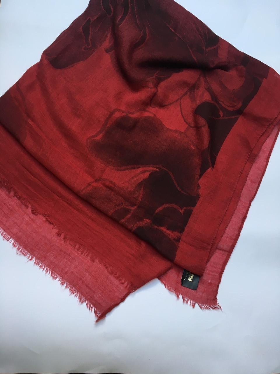 Шарф женский бордовый весна-осень Lafeny
