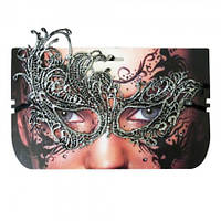 Кружевная маска Секрет (серебро)