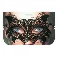 Кружевная маска Секрет Кошки (черная)