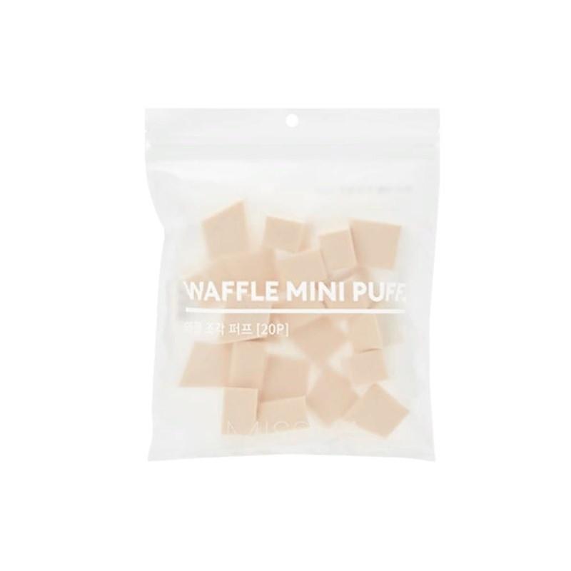Спонжи для нанесения макияжа Missha Waffle Mini Puff 20 шт (8809581469525)