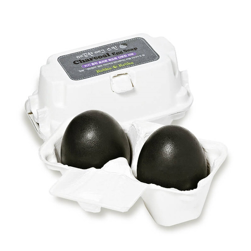 Мыло-маска для лица с древесным углем Holika Holika Charcoal Egg Soap, 50 г + 50 г (hh022)