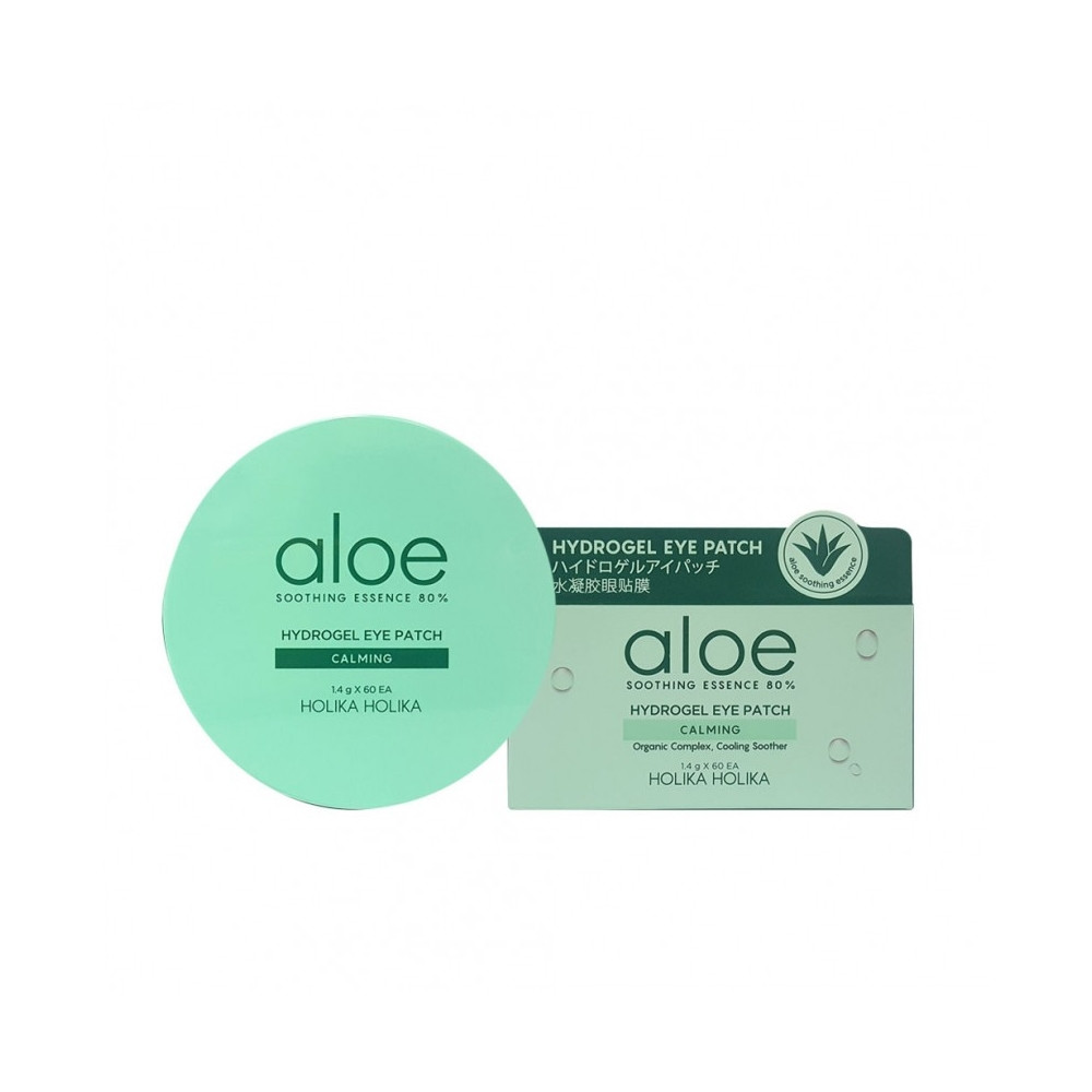 Увлажняющие гидрогелевые патчи под глаза Holika Holika Aloe Soothing Essence 80% Hydrogel Eye Patch 84 г