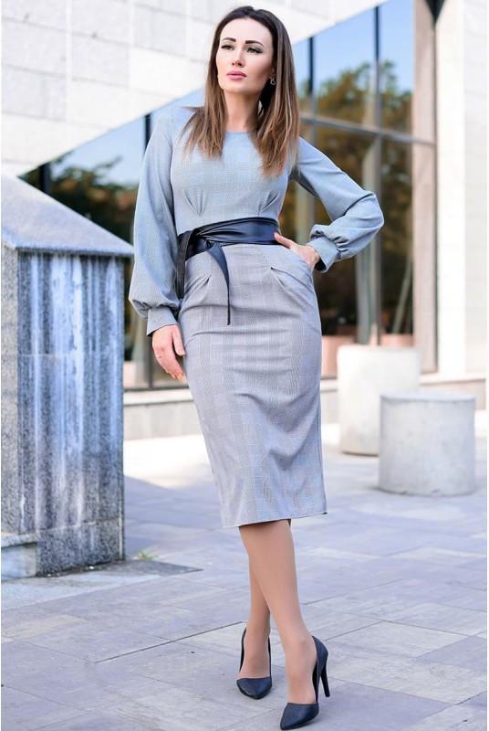 Платья в мелкую клетку Dior копия 48-60рр
