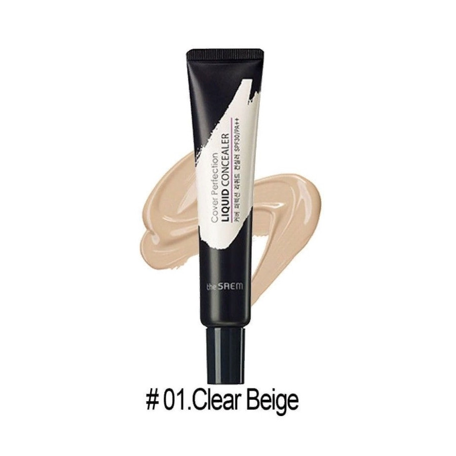 Консилер жидкий для лица The Saem Cover Perfection Liquid Concealer 01 Clear Beige, 15 мл (BM191014463)