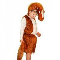 Маскарадный костюм меховой Лошадь коричневая (размер М)
