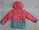 Детская демисезонная куртка для девочки (цвет омбре) (Венгрия), фото 6