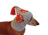 Зимняя шапка для маленькой собаки,шапка для таксы,шапка для собаки до 10 кг