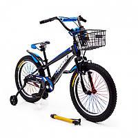 """Детский велосипед """"HAMMER-20"""" S700 20д. Черно-Синий"""