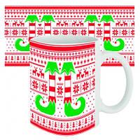 Чашка с принтом 63611 новогодняя Носки эльфа
