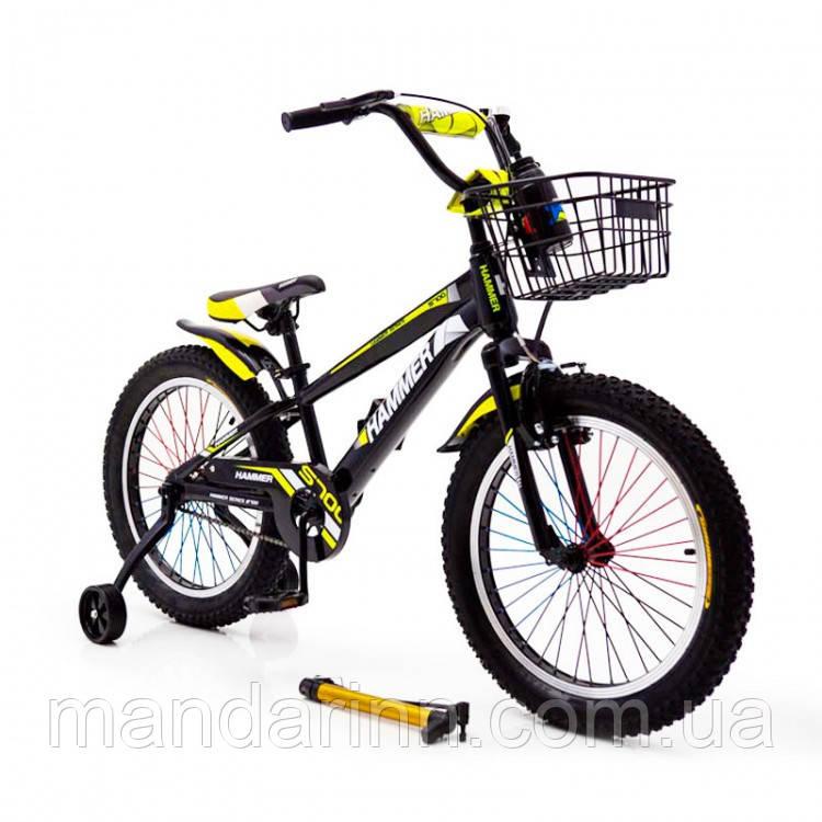 """Детский велосипед """"HAMMER-20"""" S700 20д. Черно-Желтый"""