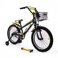 """Детский велосипед """"HAMMER-20"""" S700 20д. Черно-Желтый, фото 1"""