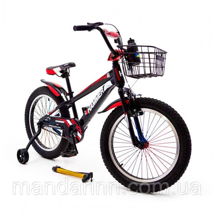 """Детский велосипед """"HAMMER-20"""" S700 20д. Черно-Красный"""
