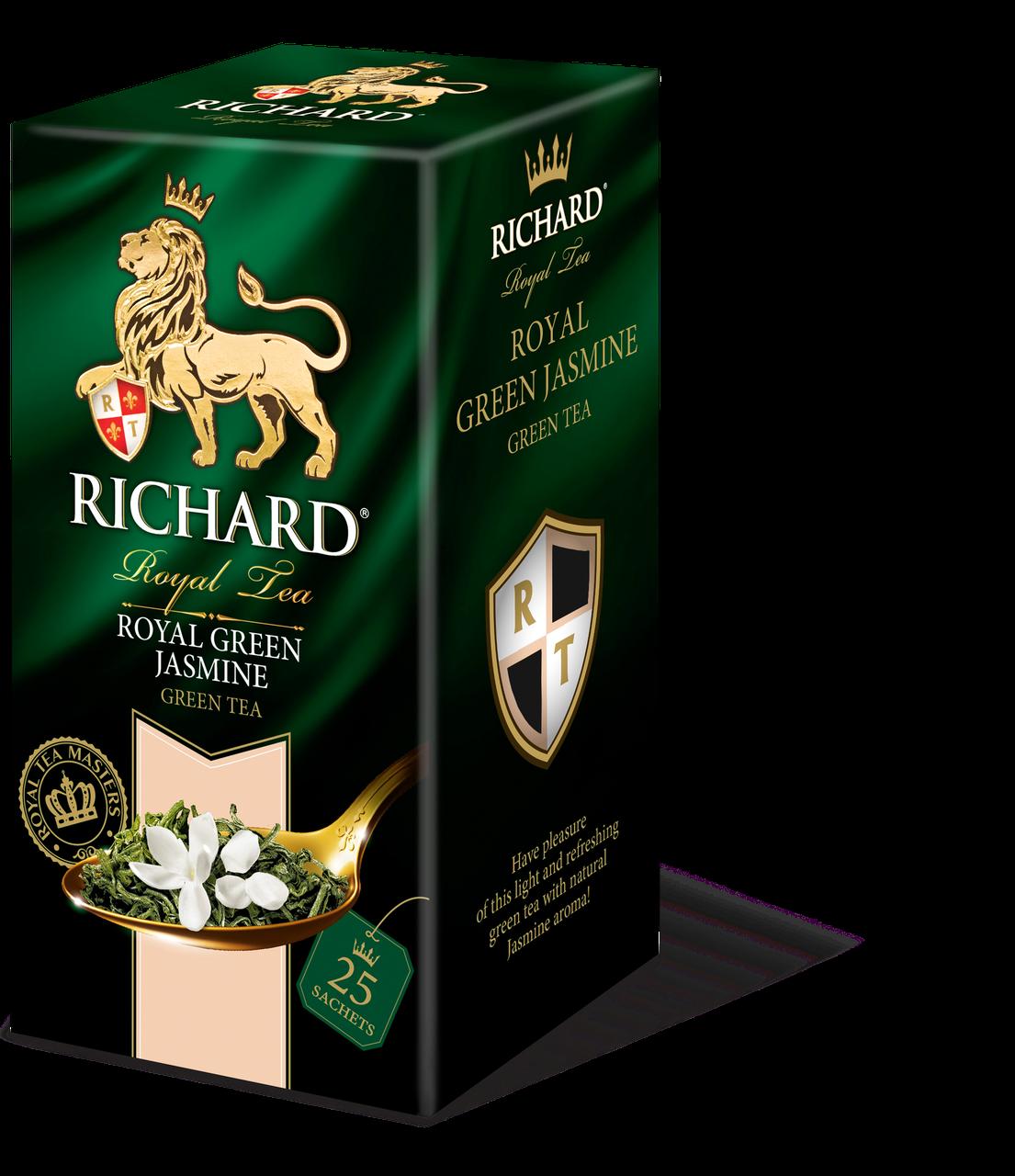 Чай зеленый с ароматом жасмина Richard Green Jasmine 25 пакетиков