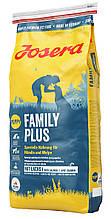 Сухий корм Josera Family Plus для цуценят, вагітних і годуючих собак 15 кг