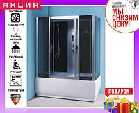 Гиромассажная душевая кабина с ванной 170х90 см Keramac ТМ-711 (GR)