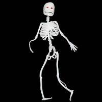 Скелет резиновый 18см белый